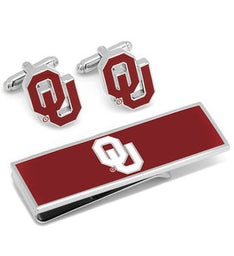 Univ of Oklahoma Sooners Cufflink and Money Clip Gift Set