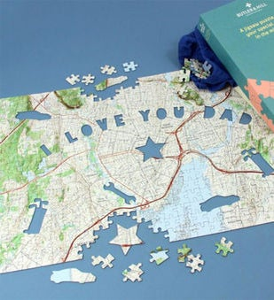 Dads USGS Personalized Map Puzzle