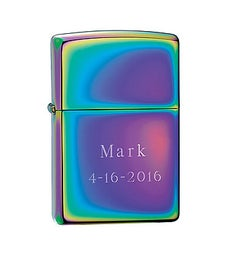 Engraved Zippo Spectrum Lighter