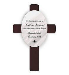 Oval Memorial Cross