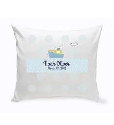 Personalized Baby Nursery Throw Pillow