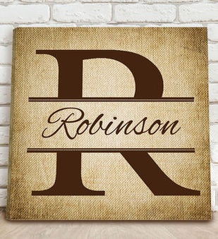 Personalized Stamped Canvas