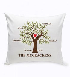 Personalized Traditional Family Tree Pillow