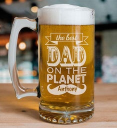 Best Dad Engraved Beer Mug