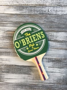 Customized The OBreins Ping Pong Paddle