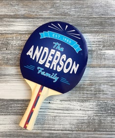 Customized The Anderson Ping Pong Paddle