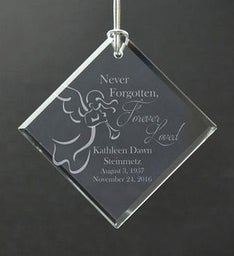 Personalized Never Forgotten Memorial Ornament