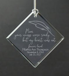 Personalized Mothers Wings Ornament