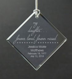 Personalized Loved Daughter Ornament