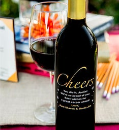 Cheers Personalized Wine Bottle