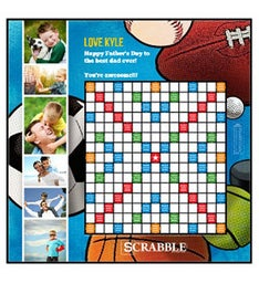 Sports Fan Custom Scrabble Game