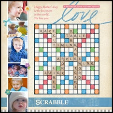 Antique Scrapbook Custom Scrabble Game