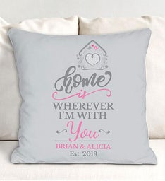 Personalized Home Is Wherever Im With You Throw Pillow