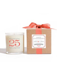 Personalized Happy Anniversary Candle