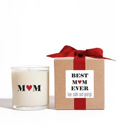 Personalized Best Mom Ever Candle