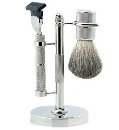 Personalized Fusion Diamond Cut Razor with Brush