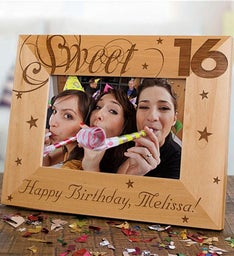 Engraved Sweet Sixteen Picture Frame