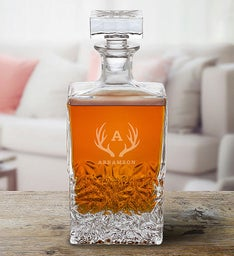 Personalized Rectangular Whiskey Decanter