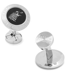 Stark Filigree Stainless Steel Cufflinks