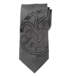 Targaryen Dragon Gray Mens Tie