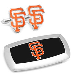 San Francisco Giants Cufflinks and Cushion Money