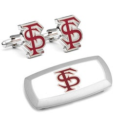 Florida State Seminoles Cufflinks and Money Clip