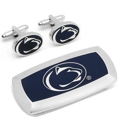 Penn State Nittany Lion Cufflinks and Money Clip