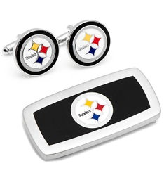 Pittsburgh Steelers Cufflinks  Cushion Money Clip