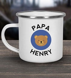 Papa Bear Personalized Camper Mug
