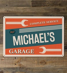 Personalized Garage Metal Sign