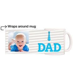 Personalized Dad Blue Tie Magic Mug