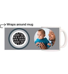 Personalized Circles Dad Magic Mug