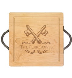 Personalized 14x14 Cutting Board with Handle
