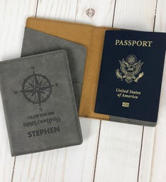 Custom Follow Your Inner Compass Passport Holder
