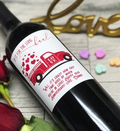 Long Haul Love Personalized Labeled Wine