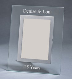 Personalized Clear Glass Frame