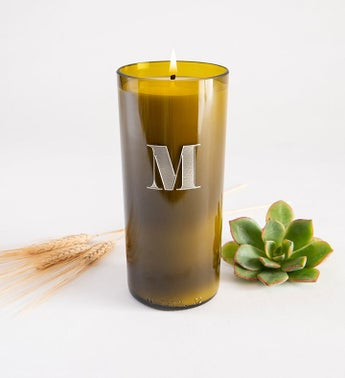 Elegant Monogram Personalized Candle