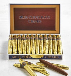 Cigar Shaped Chocolates in Classic Cigar Box