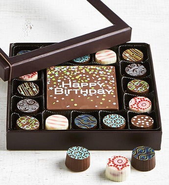 Simply Chocolate Birthday Bar  Truffles