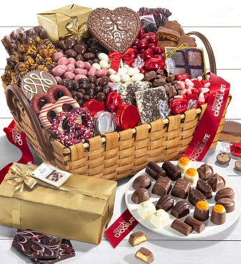 Simply Chocolate Decadent Valentine Gift Basket