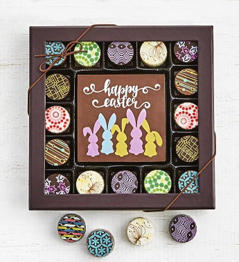 Simply Chocolate Happy Easter Bar  Truffles 17pc