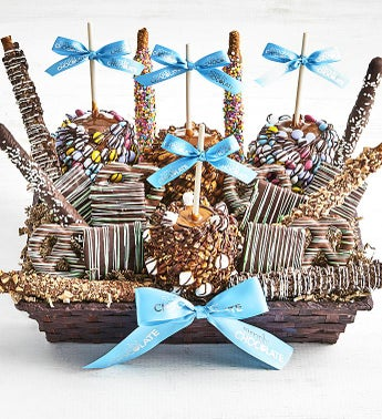 Simply Chocolate Deluxe Spring Snack Basket