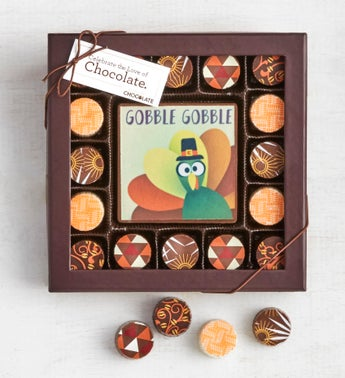 Simply Chocolate Thanksgiving Bar  Truffles 17pc