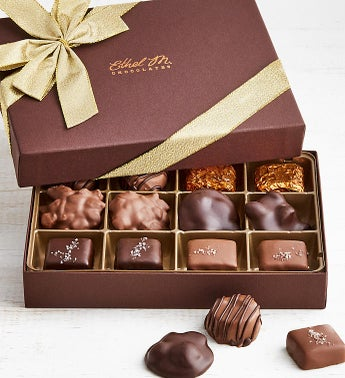 Ethel M Chocolates Nuts  Caramels 12pc