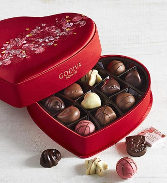 Godiva Ltd Edition Luxury Fabric Heart Box 14pc