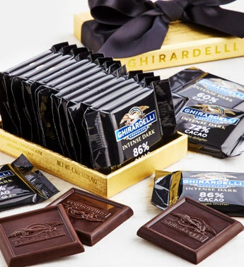 Ghirardelli Intense Dark Gold Acetate Box 13pc