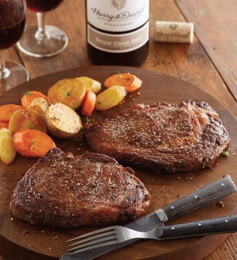 Boneless Rib Eye - Two 8-Ounce USDA Prime with Wine