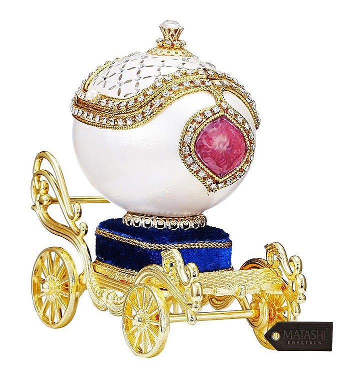 Princess Carriage Trinket Music Box Swan Lake
