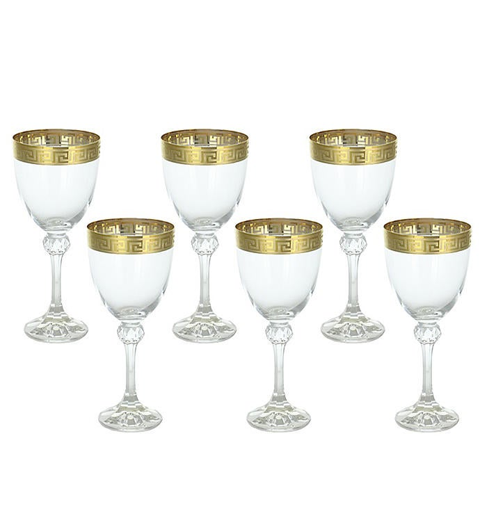 6-PC Wine Set with Gold Band