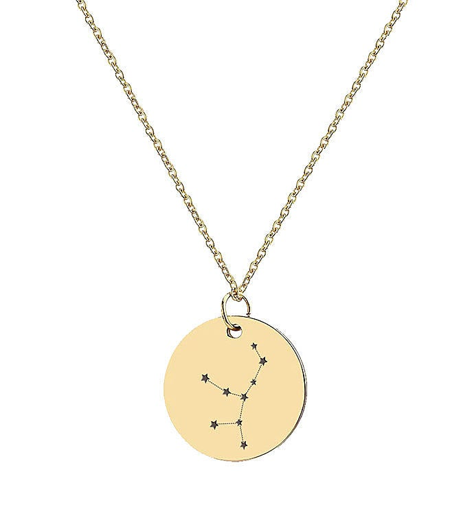 Gold Constellation Star Zodiac Necklace